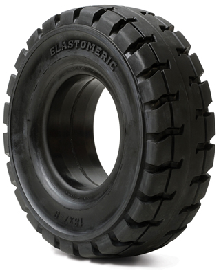 Elastomeric solid tire