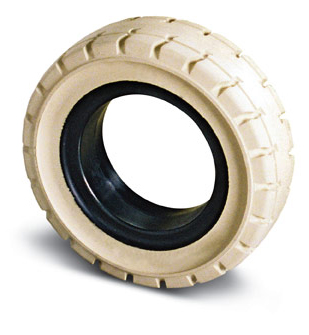 Elastomeric non-marking tire
