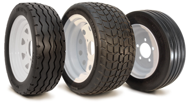 Flat Free Golf Cart & Industrial Vehicle Tires